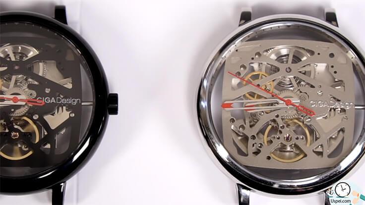 Механические часы скелетоны Xiaomi Ciga Design Creative - циферблат