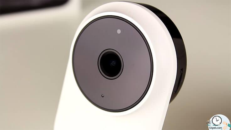 Xiaomi Mijia 1080P - Спереди камеры находятся невидимые человеческому глазу светодиоды, для ночной съёмки. А так же индикатор работы устройства.