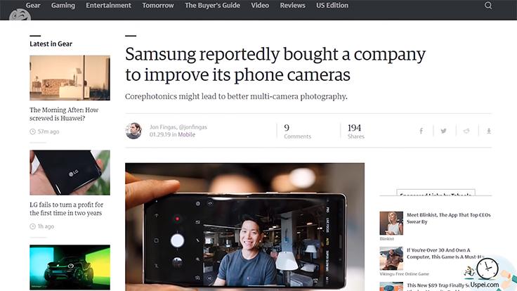 Samsung приобрела разработчика для улучшения камер