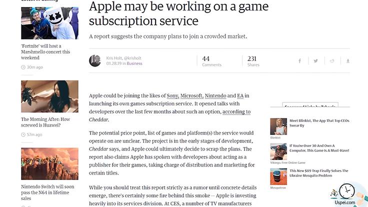 Apple собирается запустить сервис дистрибуции игр