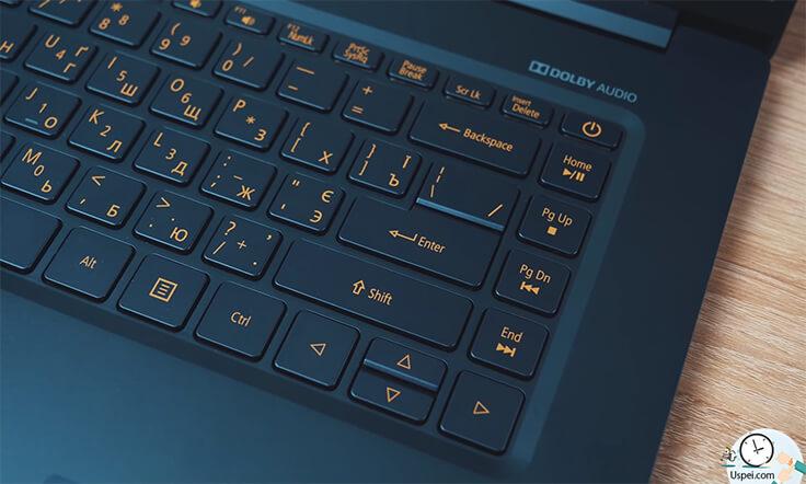 Acer Swift 5 клавиатура