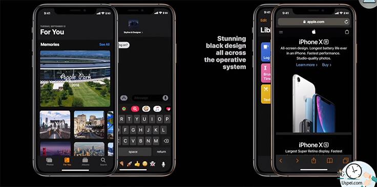 Apple слила iOS 13: Темный режим Dark Mode
