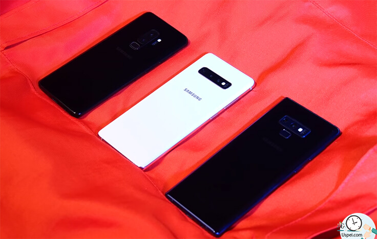 Samsung Galaxy S10+ сравнение с S9+ и Note 9 -