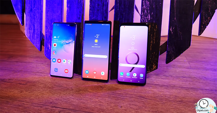 Samsung Galaxy S10+ сравнение с S9+ и Note 9