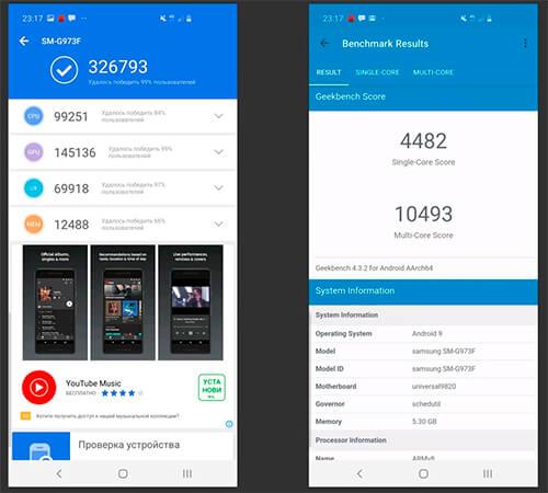 Обзор Samsung Galaxy S10, S10+ и S10e. Тесты