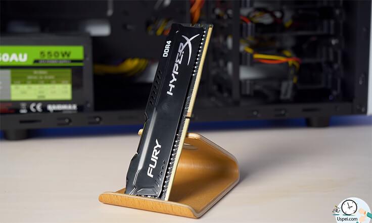 Я взял плашку оперативной памяти Fury с частотой 2666 МГц.