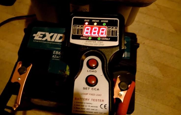 Тестер аккумулятора и генератора авто