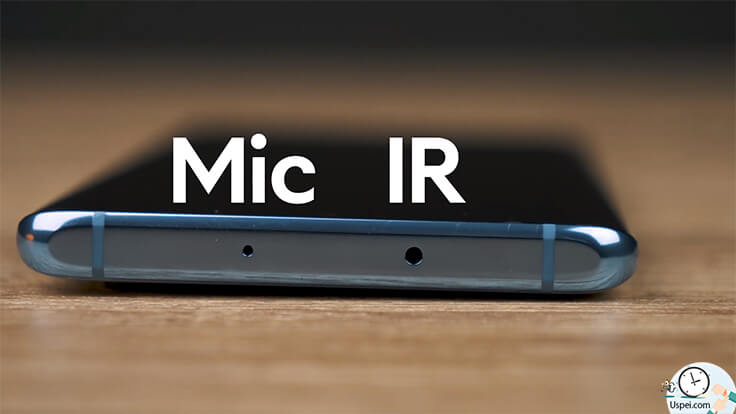 Обзор Huawei P30 Pro – Эти два отверстия – отверстие микрофона для записи видео и инфракрасный датчик.