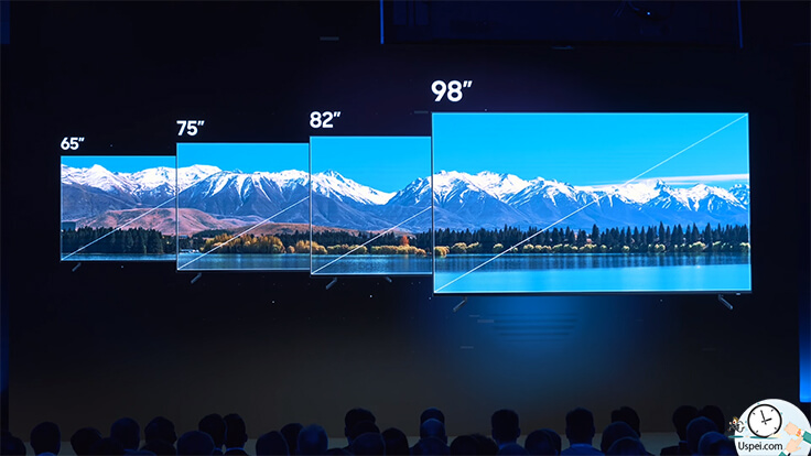 Модели 8K с диагональю экрана от 65 до 98 дюймов