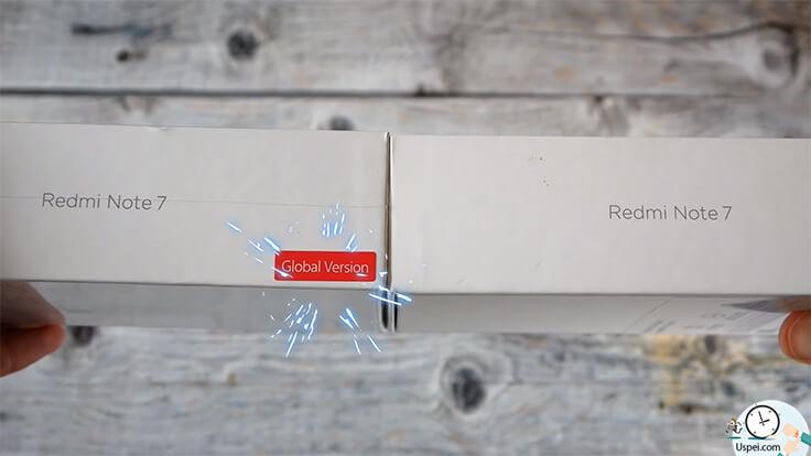 Сравнение ГЛОБАЛЬНОГО Redmi Note 7 и китайской версии - отличаются коробки
