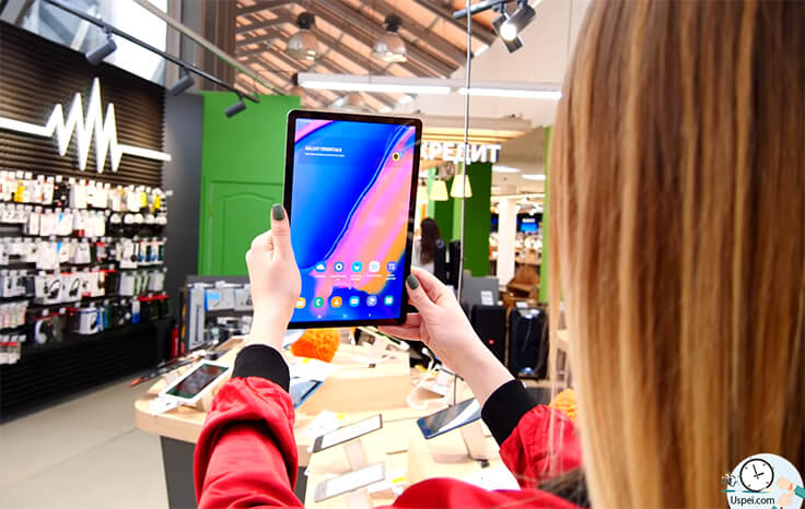 Обзор планшетов Samsung Galaxy Tab S5e и Tab A 2019 - сканер лица