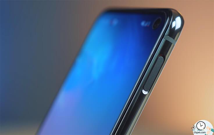 Сравнение Samsung S10e и iPhone XR - сканер на кнопке выключения