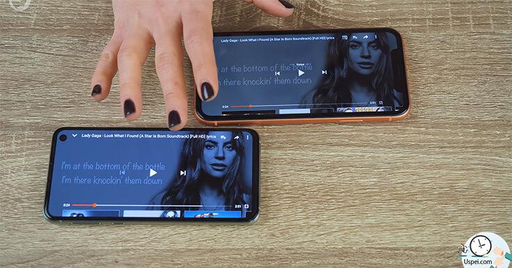 Сравнение Samsung S10e и iPhone XR - звук