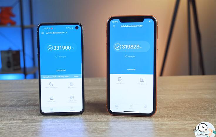 Сравнение Samsung S10e и iPhone XR - синтетические тесты
