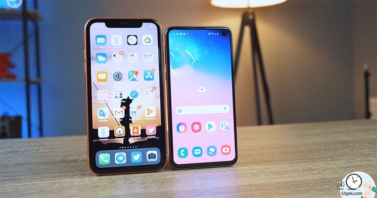 Сравнение Samsung S10e и iPhone XR - дисплей