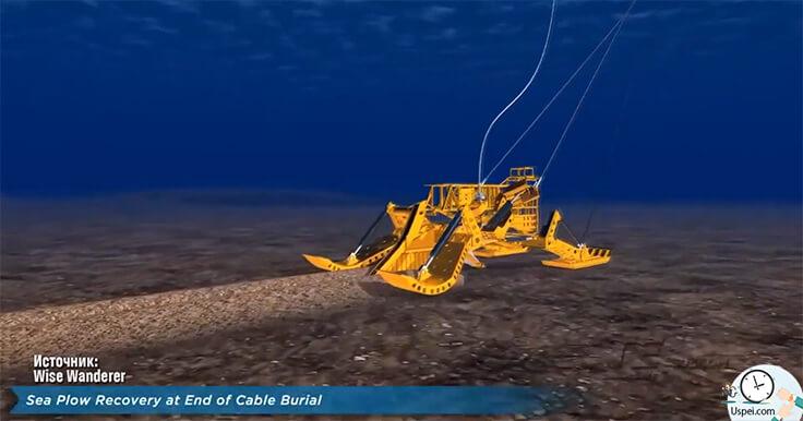 одна из главных артерий интернета - подводный оптоволоконный кабель, который прокладывается по дну океана и соединяет между собой материки и острова