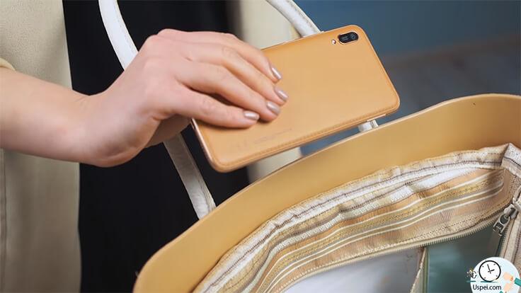 Стресс-тест кожаного Huawei Y6 2019