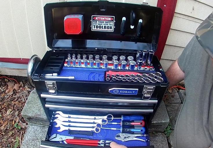Большой набор инструментов на 124 предмета