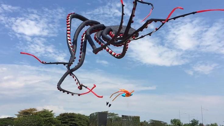 Воздушный змей осьминог