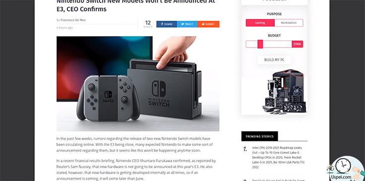 Слухи о новом Nintendo Switch не оправдались