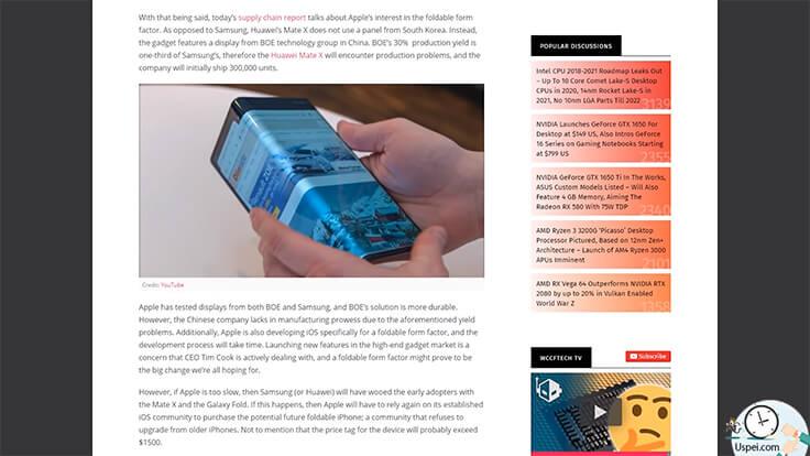 Складные смартфоны от Apple будут, но не так скоро