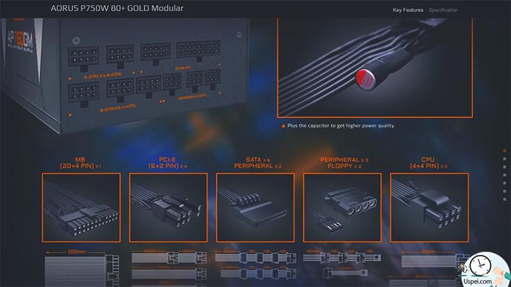 Gigabyte AORUS P750W 80+ GOLD MODULAR .