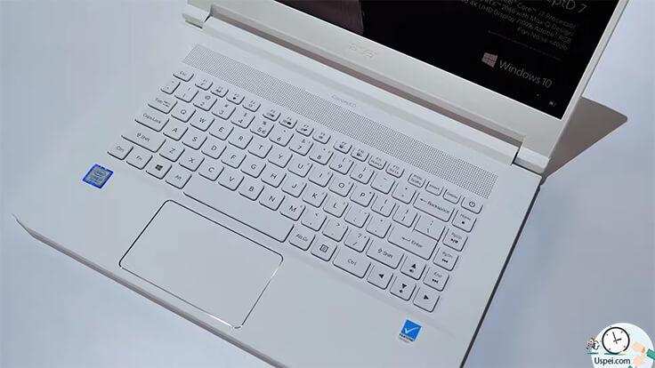 Более доступные ConceptD 5 и 7 выглядят привычнее. Это уже ноутбуки стандартного форм-фактора, которые выделяются белым цветом корпуса.