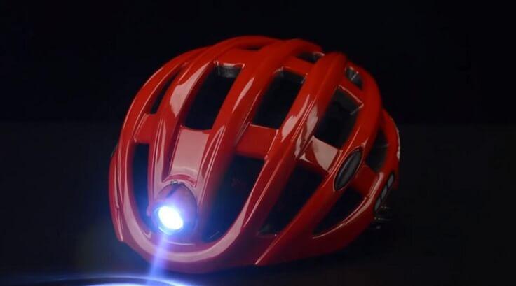 Вело шлем с фонарем