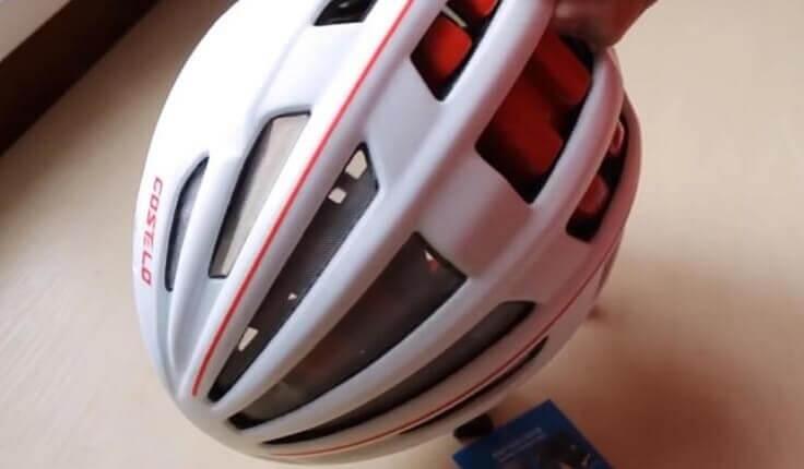 Вело шлем с линзами