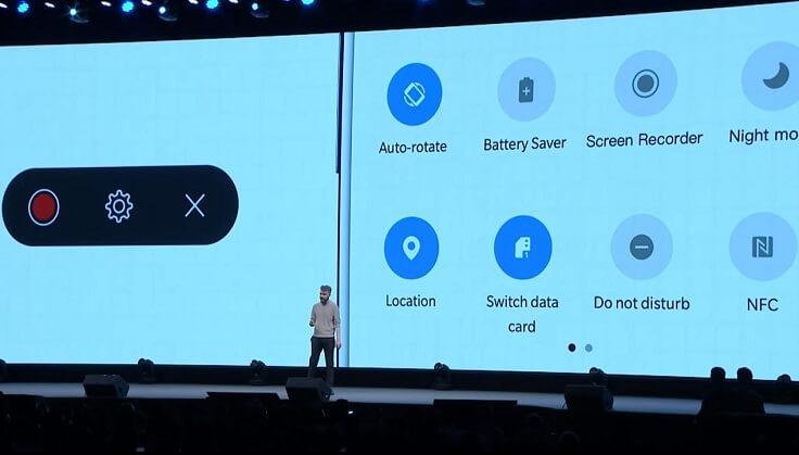 Интегрирована функция записи экрана, которая может записывать системные звуки