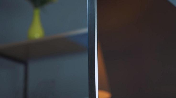 Окантовка металлическая, из темно-серого шлифованного алюминия