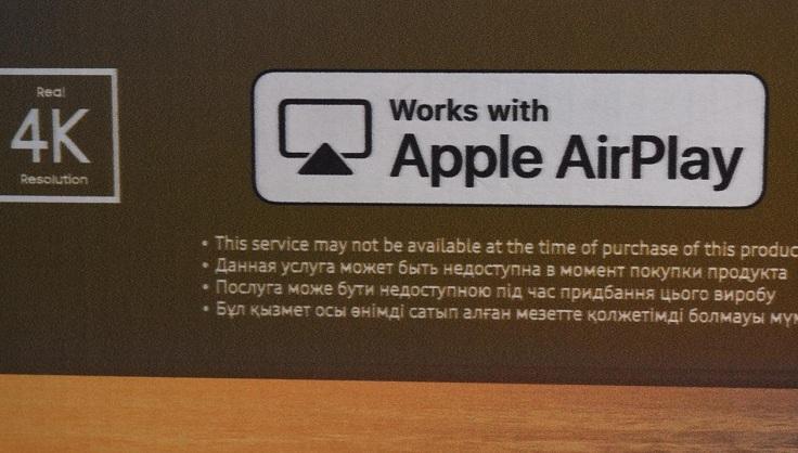 Последняя фишка нового QLED – это поддержка Airplay