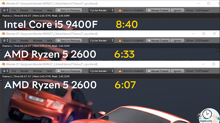 Что лучше: Intel Core i5-9400F или AMD Ryzen 5 2600?