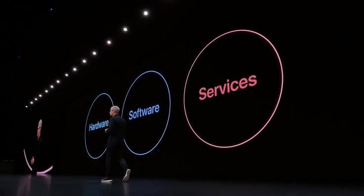 Apple делает упор на железо, софт и конечно же сервисы