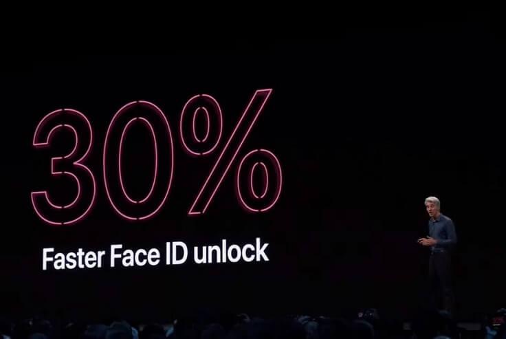 Теперь FaceID будет на 30% быстрее