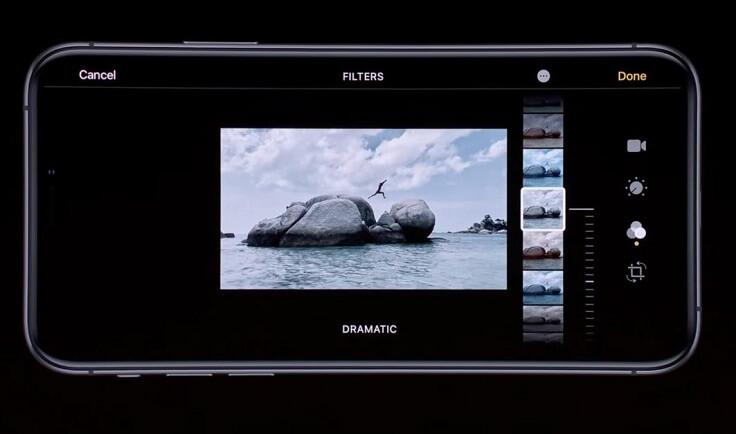 Также можно обрабатывать не только фото, но и видео