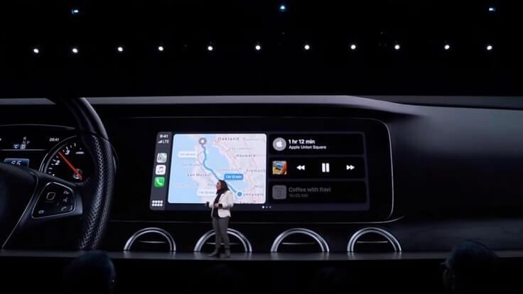 В CarPlay добавили Dashboard со всей необходимой информацией