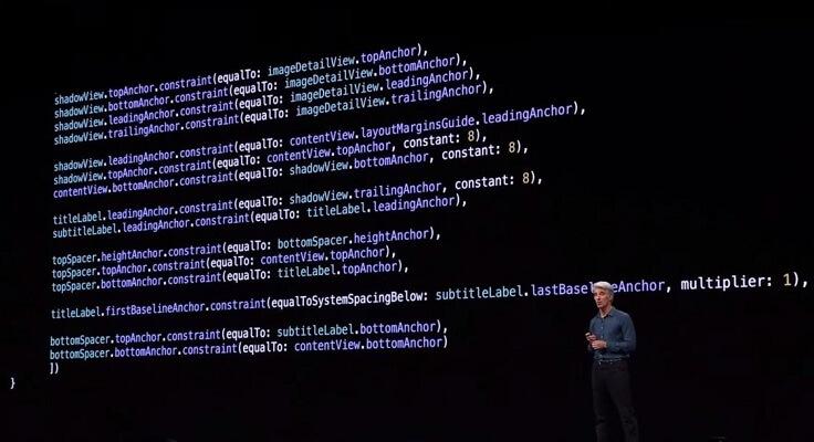 Вот, например, старый код на Swift