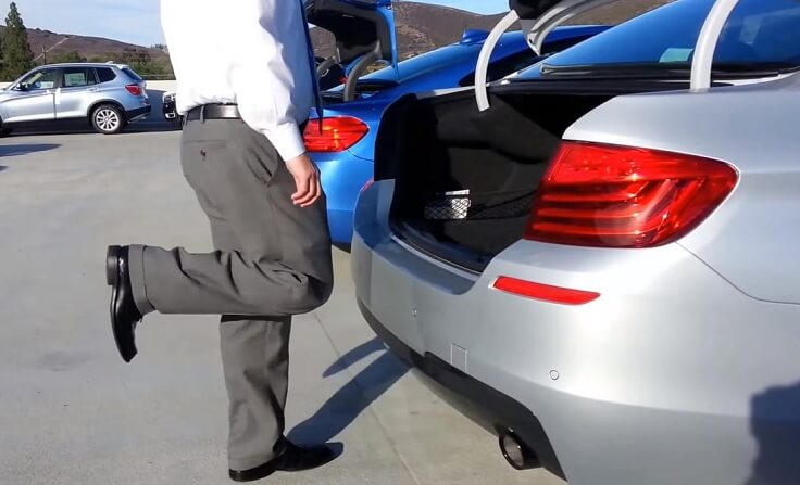 Контроллер для открытия багажника ногой