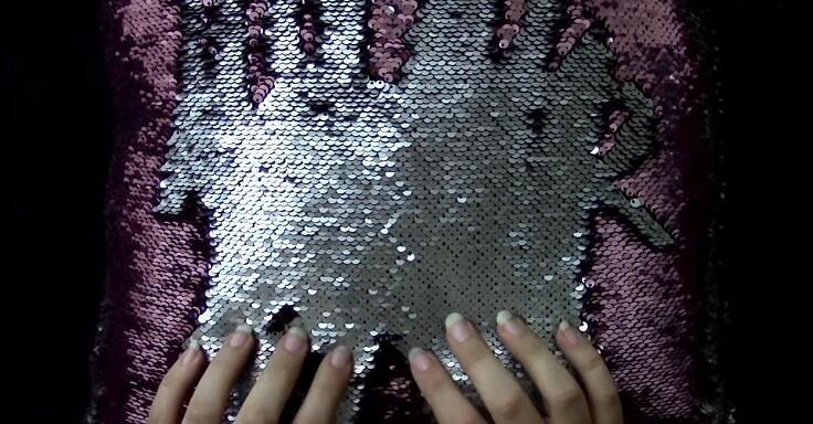 Подушка с пайетками (Чешуйчатая подушка)