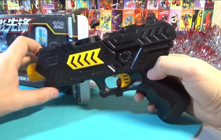 Пистолет стреляющий шариками с гидрогеля