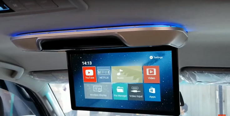 Автомобильный потолочный монитор 13 дюймов