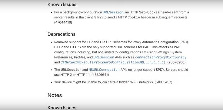 Полный список исправлений сосредоточен в подкапотном пространстве iOS и iPadOS 13
