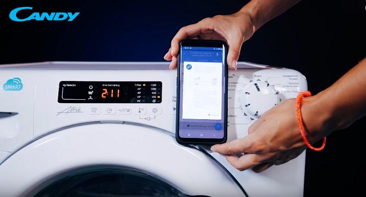 позволяет управлять стиральной машиной через NFC