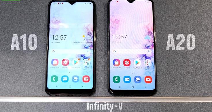 Бюджетники А10 и А20 оснащены дисплеем Infinity-V