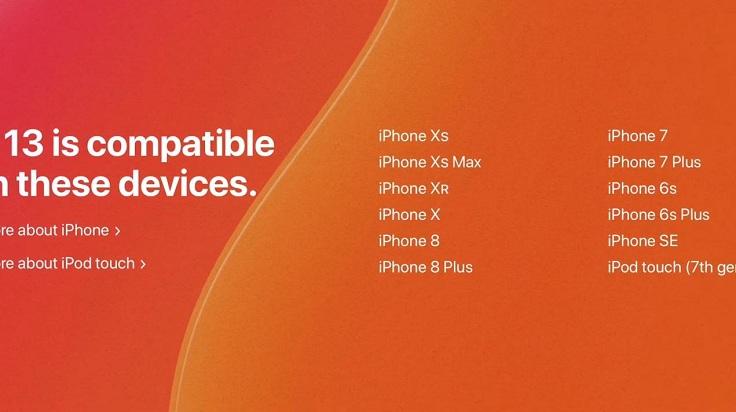 Начнем с того что, iOS 13 поддерживается не всеми устройствами
