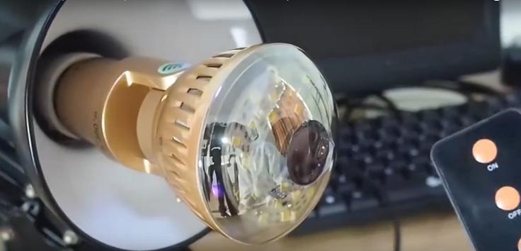 Панорамная камера в лампочке