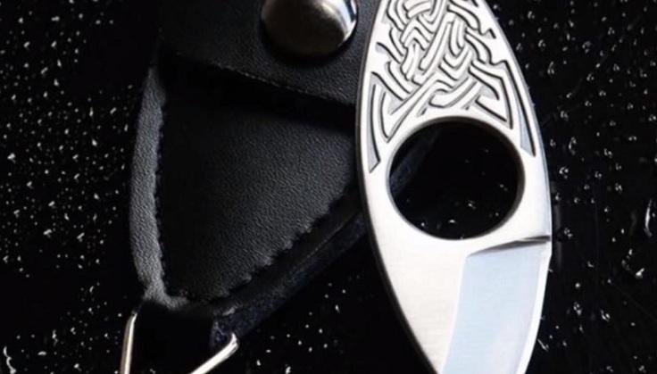Клинок- кольцо с красивым узором