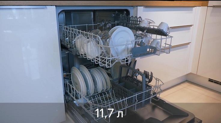 При этом машинка расходует 11,7 литров воды за одну мойку