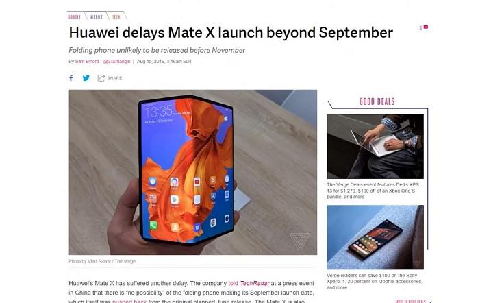 Samsung обещает все же выпустить свой Galaxy Fold в сентябре
